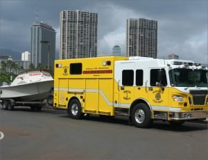 Search and rescue truck and boat