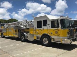 HFD Tillered ladder truck